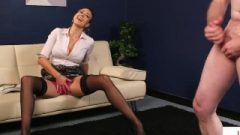 Busty CFNM Office Cougar Gives JOI To Sub Man