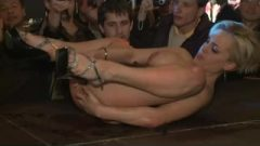 Sex-tape On Stage Huge Boobs Stripper Receives Fisting Rough