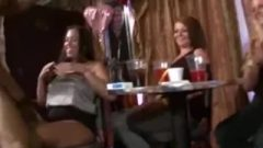 Club Takes Crazy With Strip Flashes & Blowjobs