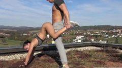 Perfect German Yoga Chick Geniune Public Sex