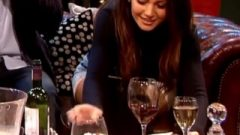 Michelle Keegan White Panty Up Her Dress Zoomed