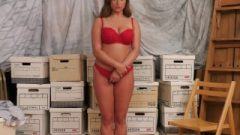 (embarrassed Naked Female) Intern Must Strip As Punishment