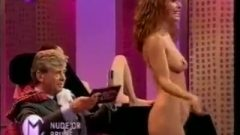 Embarrassed Naked Female On Tv