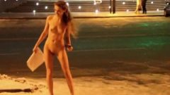 Russian Model Embarrassed Naked Female In Public