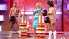 Embarrassed Naked Female – Strip – Balloon-game